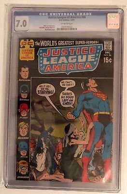 Justice League Of America #86 - Cgc 7.0 - Off White Pages