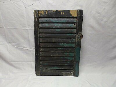 Antique House Window Wood Louvered Shutter Shabby Old Vtg Chic 23x16 68-18P
