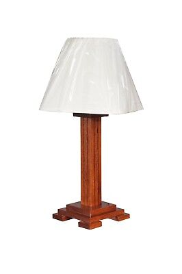 "Mission Table Lamp Amish Built Solid Oak Multiple Stains 30"" Tall x 8.5"" Wide"