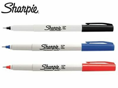 Sharpie Ultra Fine Permanent Marker 0.3mm Black Bue or Red 1-12 #