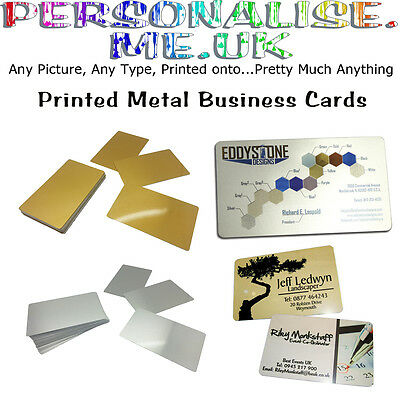 Printed Metal Business Cards, Loyalty Cards, Promotional Items Full Colour Print