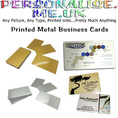 Printed Metal Business Cards, Loyalty Cards, - THIN DOUBLE SIDED-NOT THICK CARDS