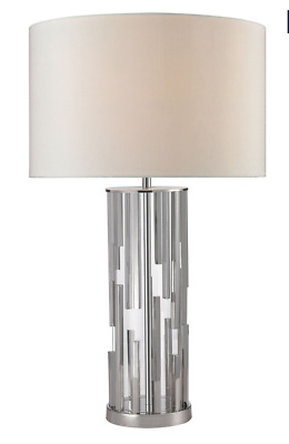 Dimond Lighting  Livornio Clear Glass LED Table Lamp in Polished Nickel No Ship