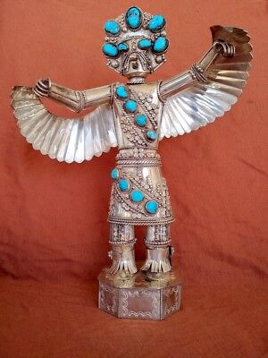 "Sterling Silver Kachina 11"" H by J Yellowhorse Possibly Chief Juan Yellowhorse"