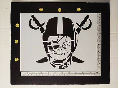 "Raiders Chucky Custom 8.5"" x 11"" Stencil Sheet FAST FREE SHIPPING"