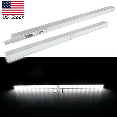 20 LED Wireless Motion PIR Sensor Closet Under Cabinet Light Lamp Bar Lamp US