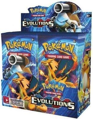 XY Evolutions 6 Booster Pack Lot 1/6 Booster Box POKEMON TCG Free Shipping