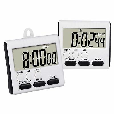 2 Pack Magnetic Digital Kitchen Timer 24 Hours Clock Timer Loud Alarm with N3G1