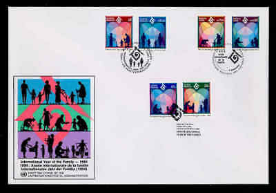 Courier Fdc - 1994 Int'l Year Of The Family Unpa Cachet