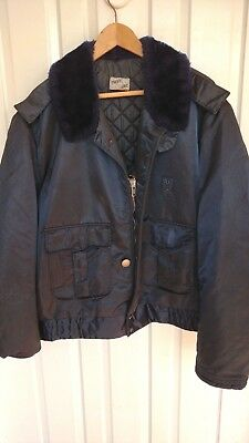 Vintage Tuffy Jac coat police law enforcement blue uniform jacket sz 48 L