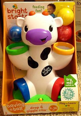 Bright Starts Having A Ball Drop & Giggle Cow New MISB