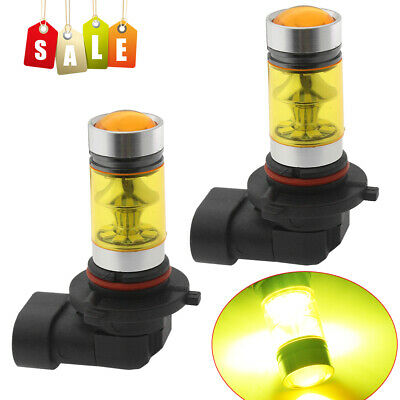 NEW 2x 100W LED 9145 H10 4300K YELLOW Projector Fog Light Bulbs FREE USA