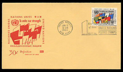 SCOTT #92 30c ABSTRACT GROUP OF FLAGS, FIRST DAY COVER - KOLOR KOVER