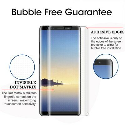 Samsung Galaxy Note 8 Transparent 4D Full Tempered Glass  Screen Protector-CLEAR