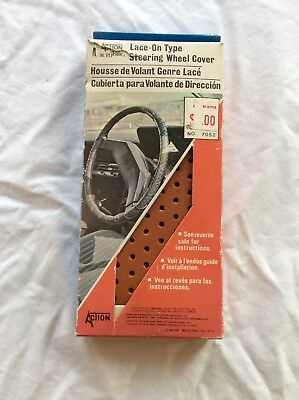 Action Auto Fair Lace-On Type Steering Wheel Cover Synthetic