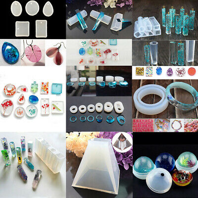 Silicone Jewelry Mould Resin Round Necklace Pendant Mold Making Craft Tool DIY