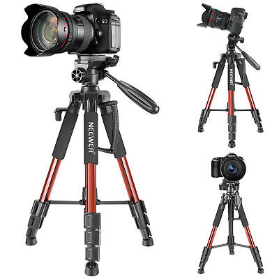 "Neewer 56"" Aluminum Camera Tripod with 3-Way Swivel Pan Head f Canon Nikon Sony"