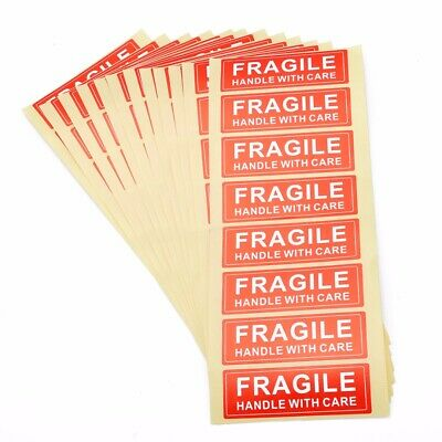 "100PCS FRAGILE STICKER 1"" x 3"" FRAGILE HANDLE WITH CARE STICKERS DO NOT BEND"