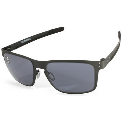 f0811dd7abf OAKLEY HOLBROOK METAL OO4123-01 Matte Black Grey Unisex Sports Sunglasses -   127.83