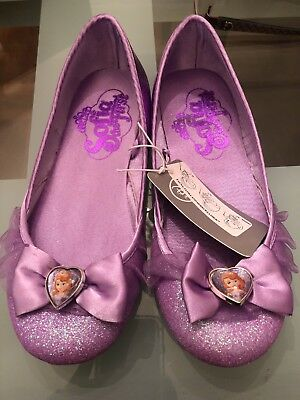Sofia the First Disney Store Deluxe Sophia The First Costume Shoes Size 13-1 New