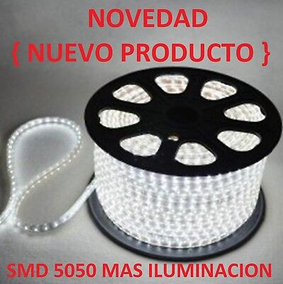 Bombilla Tira De Led Luz Fria Blanca 220V Smd5050 Impermeable Ip65 13Mm 230V