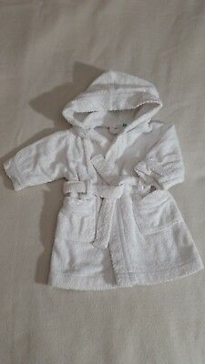 John Lewis Baby Toweling Robe / Dressing Gown (6-9 Months) - Unisex Baby