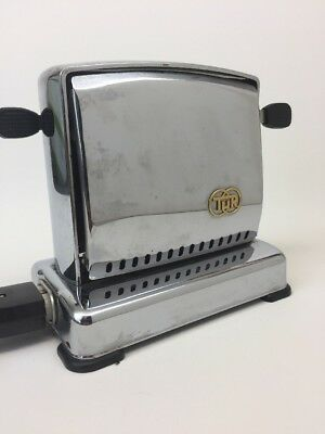 Antique Toaster TUR Made in Germany Chrome Art Deco Retro Kitchen Equipment
