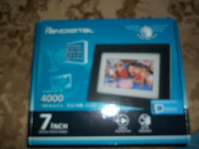 7 Inch Digital Photo Picture Frame Pandigital LCD Screen Black Moving Images New
