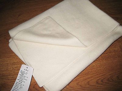 Pure Cashmere Wool Baby Kids Blanket Fleece Wrap-White-31'*24'inch, only £15.99