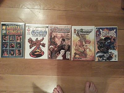 Mortal Kombat * Battle Gods * Mega Dragon and Tiger * Silent Dragon 27 Comic LOT