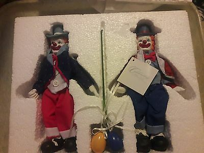 1999 house of loyd clowning around figurines