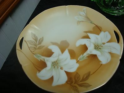 Antique R&s (Reinhold Schlegelmilch) Germany White Lily Cake Plate