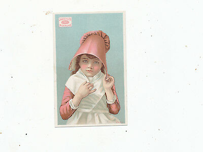 C7524    VICTORIAN TRADE CARD  james pyles pearline  SOAP GIRL VARIETY distorted
