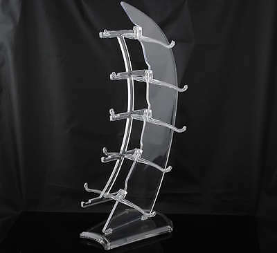 New Clear 5 layer Sails Sunglass Racks Display Stands Rack Holder USA Seller