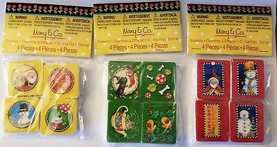 Mary Engelbreit Christmas Erasers - 3 packs of 4 - 12 Erasers Total
