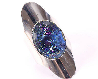 Sarah Coventry Silver Tone Ring with Sparkling Blue Stone, Vintage 1970s