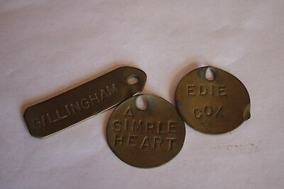 Vintage Brass Livestock Cattle Horse Name Tags