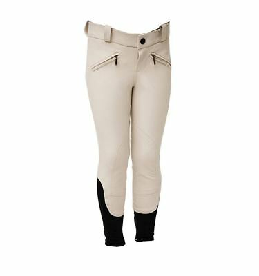 Horseware Ireland Kids Woven Competition Breeches Beige/White 22-30 CLH0D0