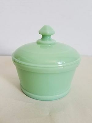 Mosser Jadeite Covered Dish Candy Sugar Bowl With Lid Glass Green