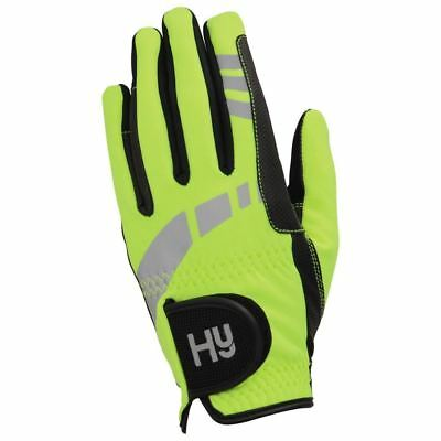 Hy5 Extreme Hi-Viz Reflective Softshell Gloves - Adult Size XS-XL 12749P