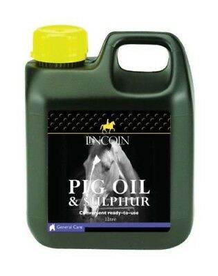 Lincoln Pig Oil & Sulphur for Horses & Ponies Ready To Use Preparation 3993P