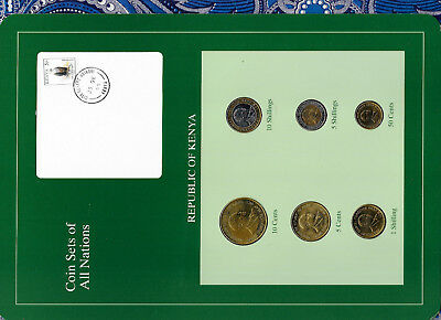 Coin Sets of All Nations Kenya 6 coin 1991 - 1995 UNC