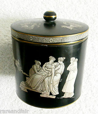 Pratt  jar with lid with Greek decoration (early 1800s) FREE SHIPPING