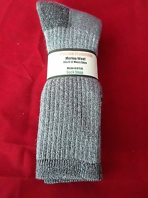 2 Pair Pocono 71% Merino Wool Over the Calf Hiker Sock Arch Support Cabela 9-12