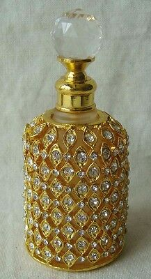 Perfume Bottle Gold With Crystals