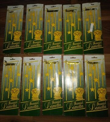Vtg Lot of 10 West German Lametta Stanniol CHRISTMAS Icicles Gold LEAD TINSEL