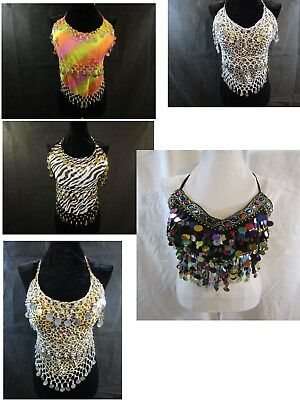 HALTER Belly Dancer/Costume Top - Various Colors