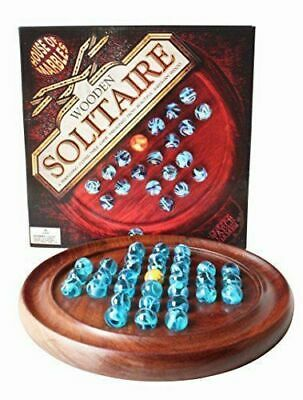 House of Marbles Wooden Solitaire Quality Board Game Genuine Traditional Classic