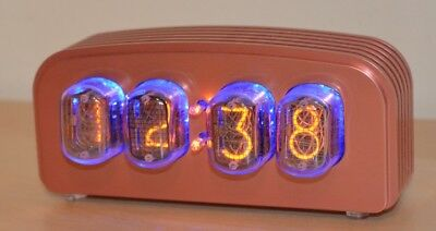 "Nixie Clock/Uhr - IN-12 Tubes/Röhren - Nixie ""FunKlock"" - Finned Case (Copper)"