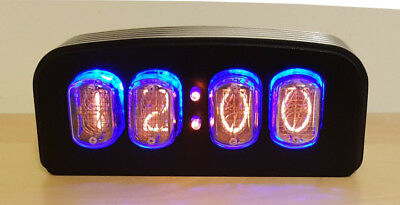 "Nixie Clock/Uhr - IN-12 Tubes/Röhren - Nixie ""FunKlock"" - Finned Case (2 Tone)"